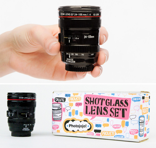 Shot Glass Lens Set (Images courtesy Photojojo Store)