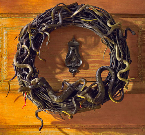Martha Stewart Animated Snake Wreath (Image courtesy Grandin Road)