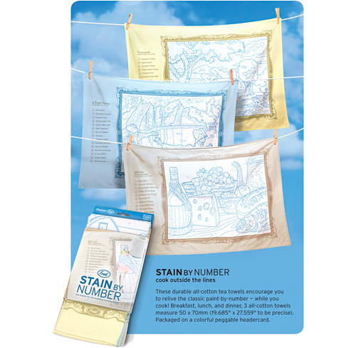 Stain By Number Tea Towels (Image courtesy WorldWideFred)