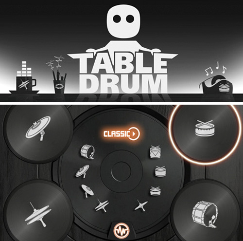 TableDrum App (Images courtesy iTunes App Store)