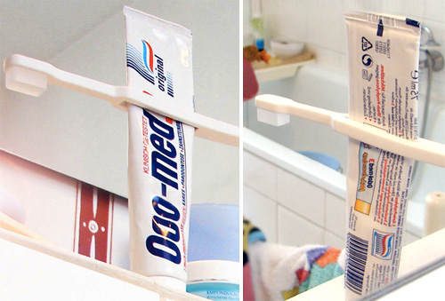 Tube Squeezing Toothbrush (Images courtesy Catherine Werdel)