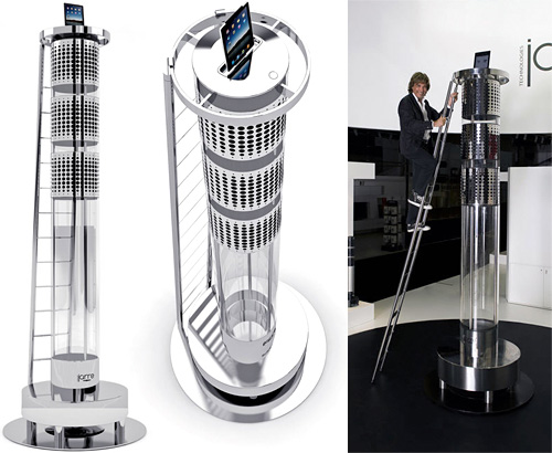 Jean Michel Jarre's 11-Foot Tall AeroDreamOne iPhone Dock (Images courtesy Jean Michel Jarre)