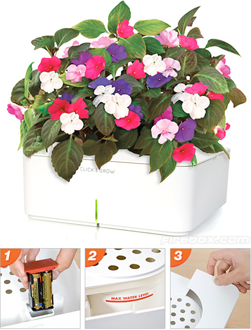 Click And Grow 'Computerised' Planter (Images courtesy Firebox)