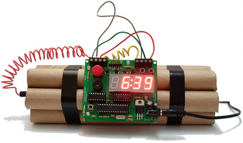 Defusable Alarm Clock (Image courtesy Mike Krumpus)