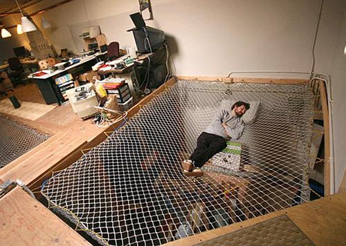 Mesh Hammock Bed (Image courtesy NY Nerd)