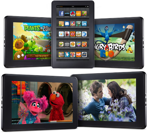 Amazon Kindle Fire (Images courtesy Amazon)