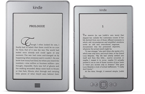 Amazon Kindle and Kindle Touch (Images courtesy Amazon)