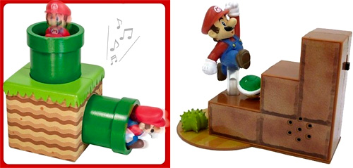Super Mario Bros. Continuous Sound Figures (Images courtesy Amazon)