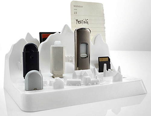 Memory City Flash Drive Storage (Image courtesy design3000.de)