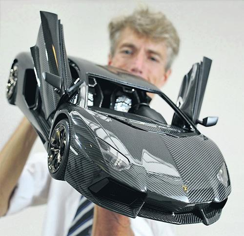 Model Lamborghini Aventador (Image courtesy Chiemgau Online)
