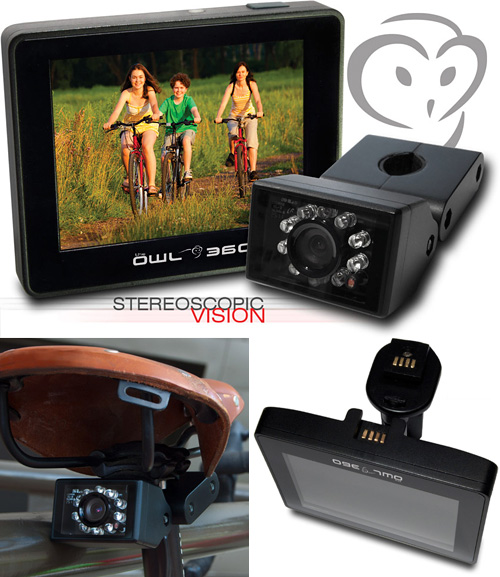 Owl 360 Rear View Bicycle Camera (Images courtesy The Owl 360)