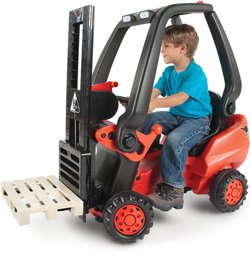 Pedal Powered Forklift (Image courtesy Hammacher Schlemmer)