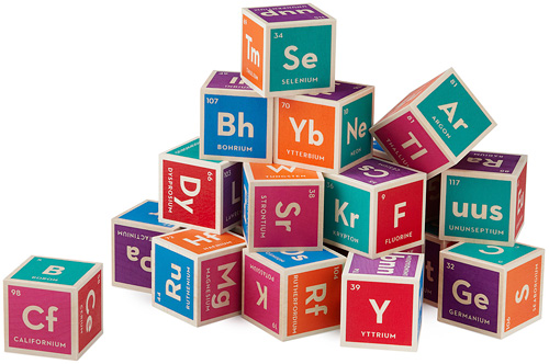 Periodic Table Building Blocks (Image courtesy UncommonGoods)