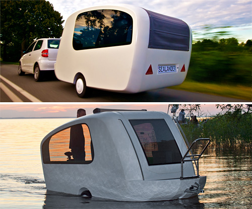 Sealander Amphibious Camping Trailer (Images courtesy Sealander)