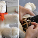 Kid-Friendly Robotic Teddy Bear With Soft Animated Limbs