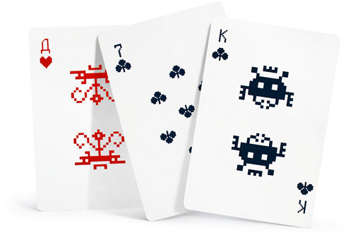 Space Invaders Playing Cards (Image courtesy Art Lebedev)