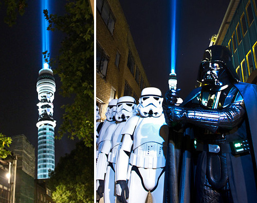 BT Tower Lightsaber (Images courtesy Pocket-lint)