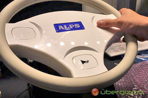 ALPS Trackpad Steering Wheel (Image courtesy Ubergizmo)