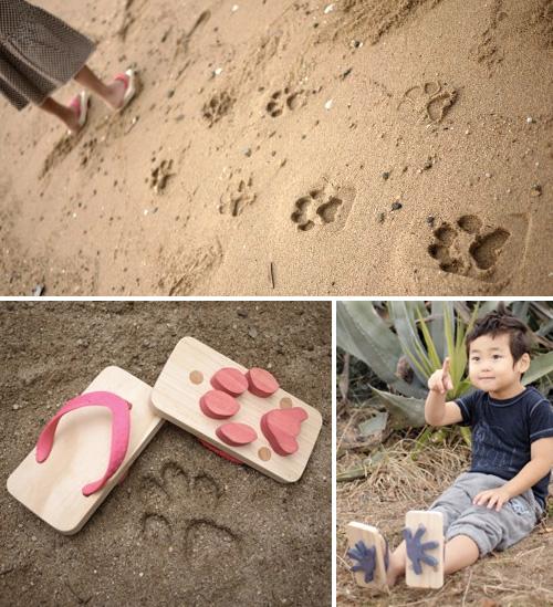 Ashiato Footprint Sandals (Images courtesy Kiko+)