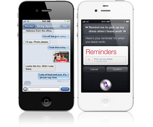 iPhone 4S (Images courtesy Apple)