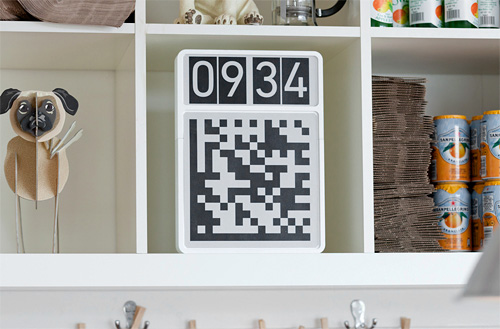 QR Code Clock (Image courtesy Berg London)