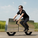 This Is A Mirror Body Electric Motorcycle