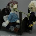 Crocheted Exorcist Scene FTW!
