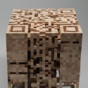 3D QR Cube Stool Looks Like It's Made From Jenga Blocks