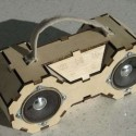 DIY Eco Boombox Made Of Laser Cut Plywood