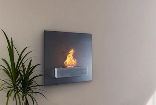 Serafin Wall Mount Liquid Fuel Fireplace | OhGizmo!