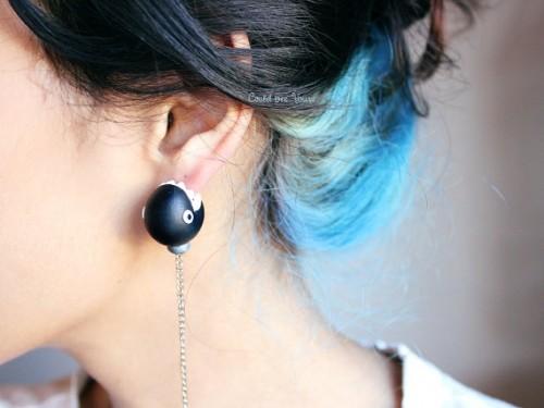 mario chomp earrings are awesome ohgizmo