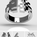 WANT: Sterling Silver Space Invaders Ring