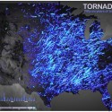 Awesome Map Shows Visualization Of 56 Years' Worth Of Tornadoes Across The USA
