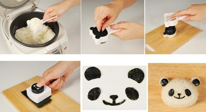 Panda Seaweed Nori Punch and Rice Mold