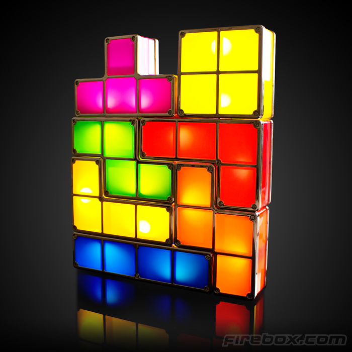endlessly reconfigurable tetris lamp looks awesome ohgizmo. Black Bedroom Furniture Sets. Home Design Ideas