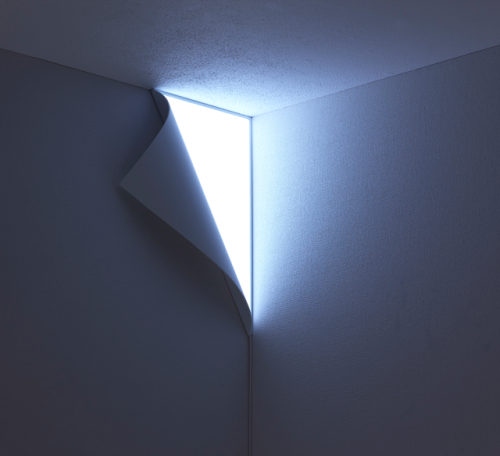 Peel Wall Light Looks Like Your Wall Is Peeling Off To Reveal Wonders Beneath : OhGizmo!