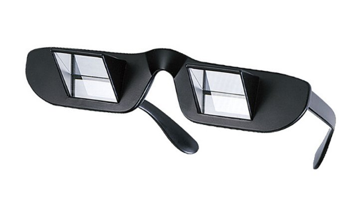 prism glasses let you read while you re flat on your back
