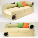 This Sofa Comes With A Cat Habitrail