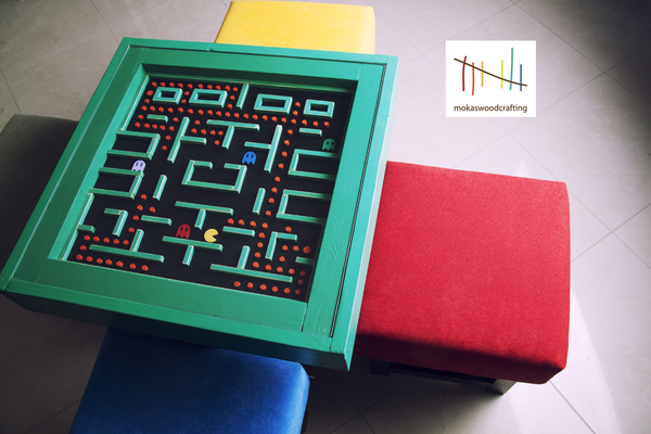 pac-man table is retro chic that would look good in your living