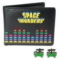 'Tis A Space Invaders Wallet And Cufflinks Set