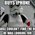 Even Storm Troopers Need Some iPhone Lovin