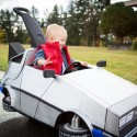 World's Awesomest Mom Mods Her Kid's Push Car into a Time-Traveling DeLorean