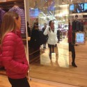 Magic Mirror Changes The Color Of The Clothing You're Trying On The Spot
