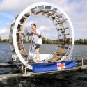 Man Makes Giant Hamster Wheel To Walk Across The Irish Sea