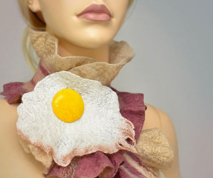 Bacon and Egg Scarf1