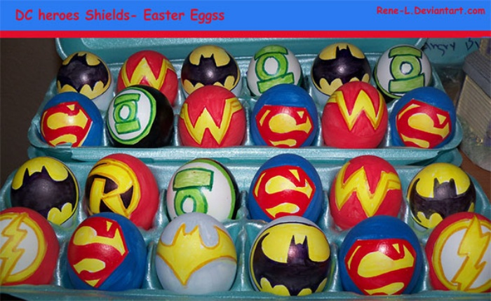 Easter Eggs DC Shields
