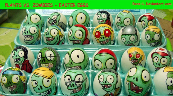 Easter Eggs Plants vs Zombies
