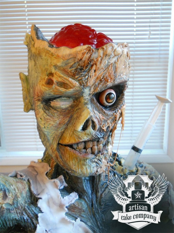 Zombie Rice Krispies Cake3