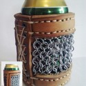Protect Your Booze: Boiled Leather and Chainmail Beer Koozie