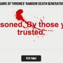 Death By Random: Game of Thrones Death Generator